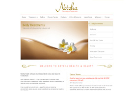 Noteha Health & Beauty Website