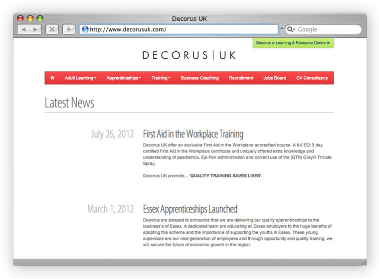 Decorus Website